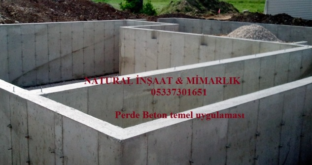 perde beton temel